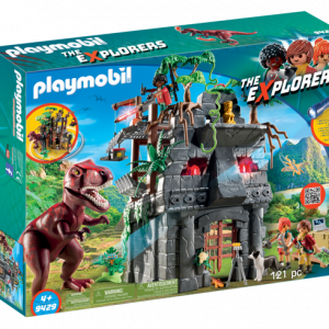 Campement des Explorers avec tyrannosaure