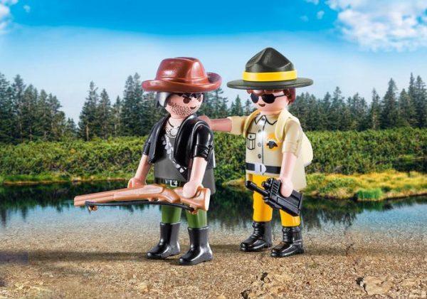PLAYMOBIL DuoPack Garde forestier et braconnier