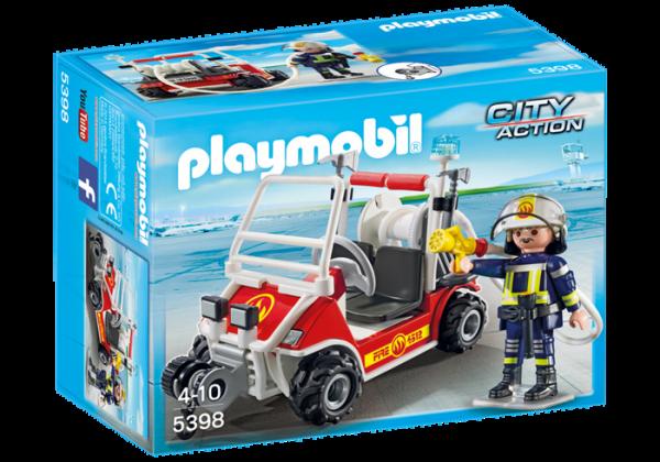 Chef des pompiers avec voiturette