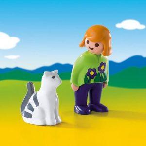 Soigneur avec chat