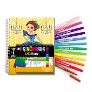 Carnet de Coloriage Princesses + Feutres