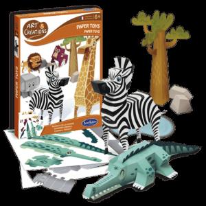 Art & Créations Paper Toys - Animaux de la Savane