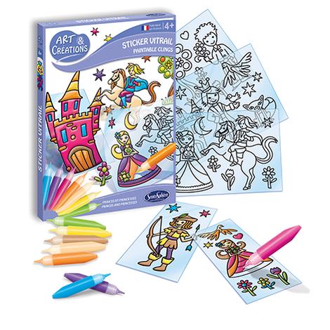 Art & Créations Stickers Vitrail Petits Princes