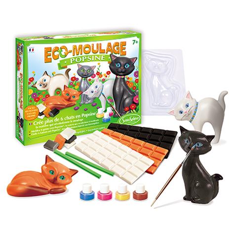 """Eco-Moulage Popsine """"Les Chats et Chatons"""""""