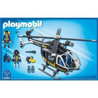 Hélicoptère et policiers d'élite