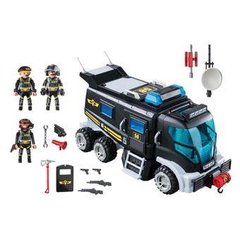 Camion policiers d'élite avec sirène et gyrophare
