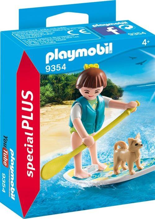 Sportive avec paddle